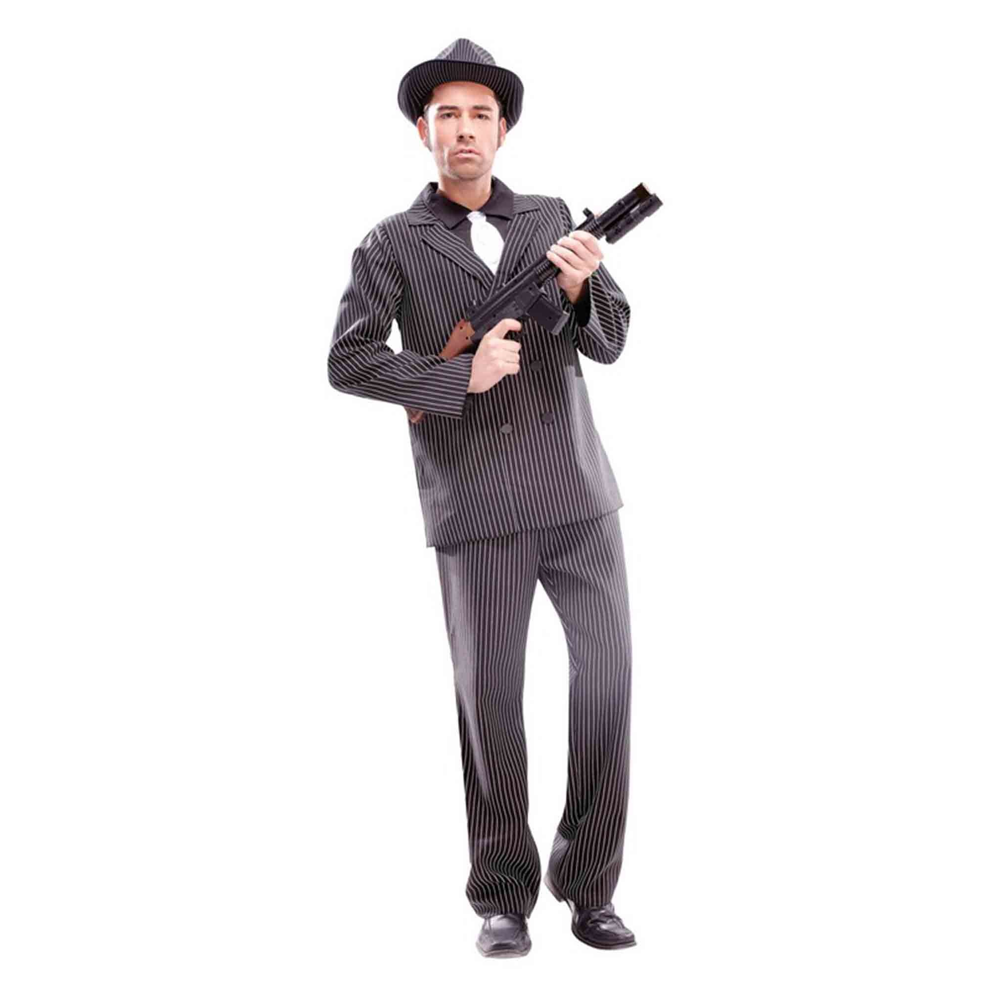 Delux Gangster Costume Large - Adult
