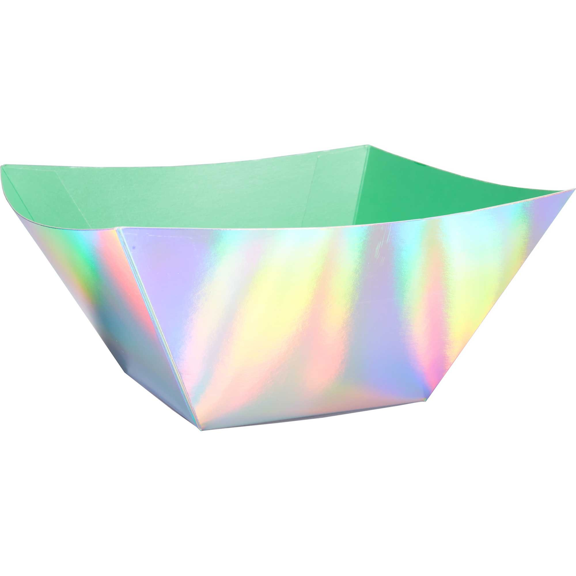 Shimmering Party Iridescent Paper Serving Bowls