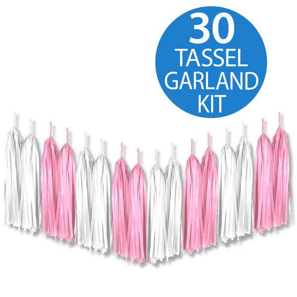 Tassel Garland Tissue Paper Pink