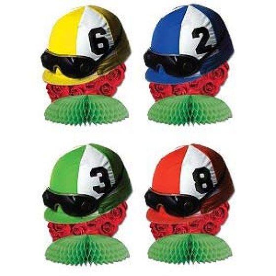 Jockey Helmets Mini Honeycomb Centrepieces