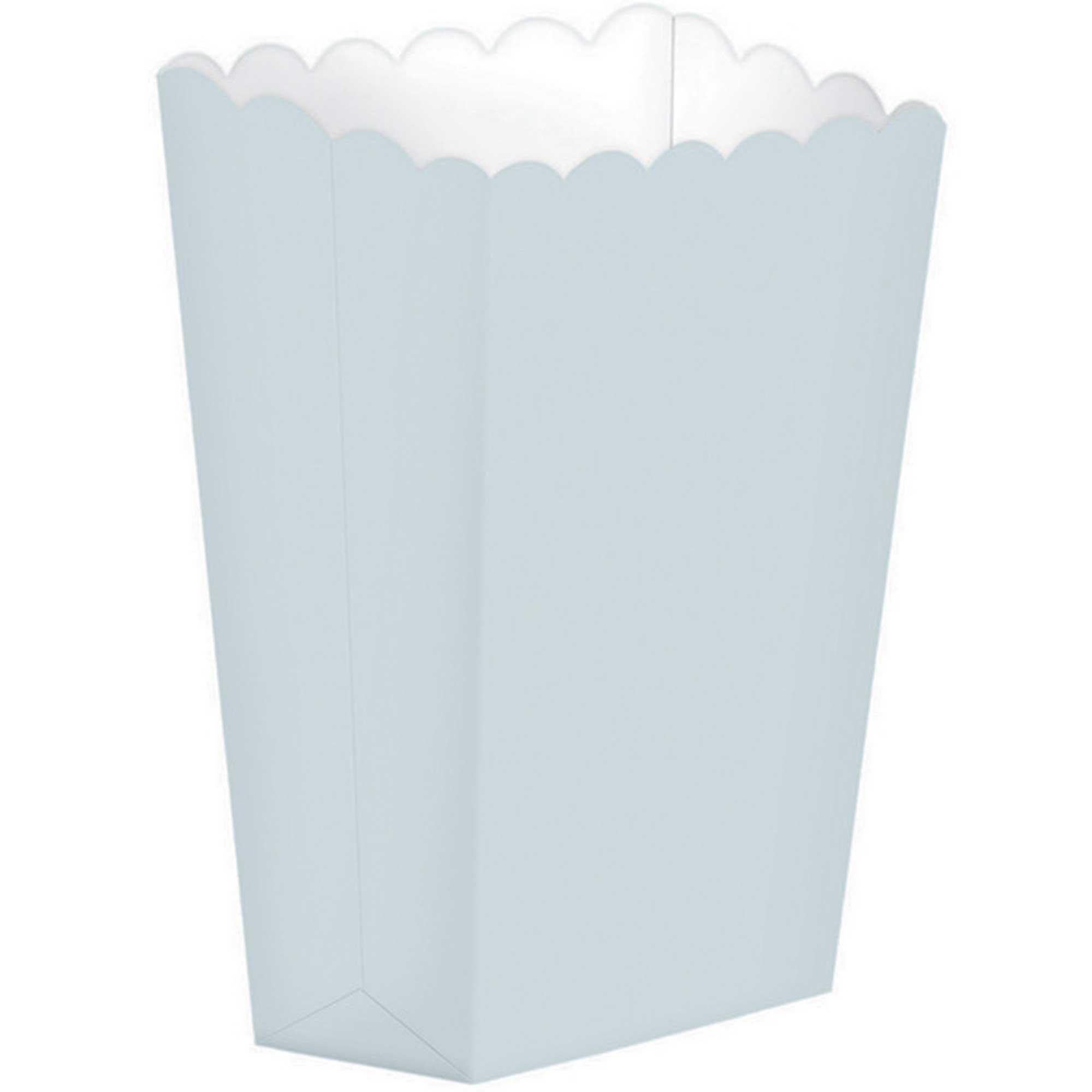Popcorn Favor Boxes Small Silver