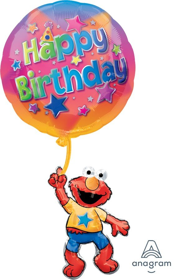 SuperShape XL Elmo Floating Birthday P35