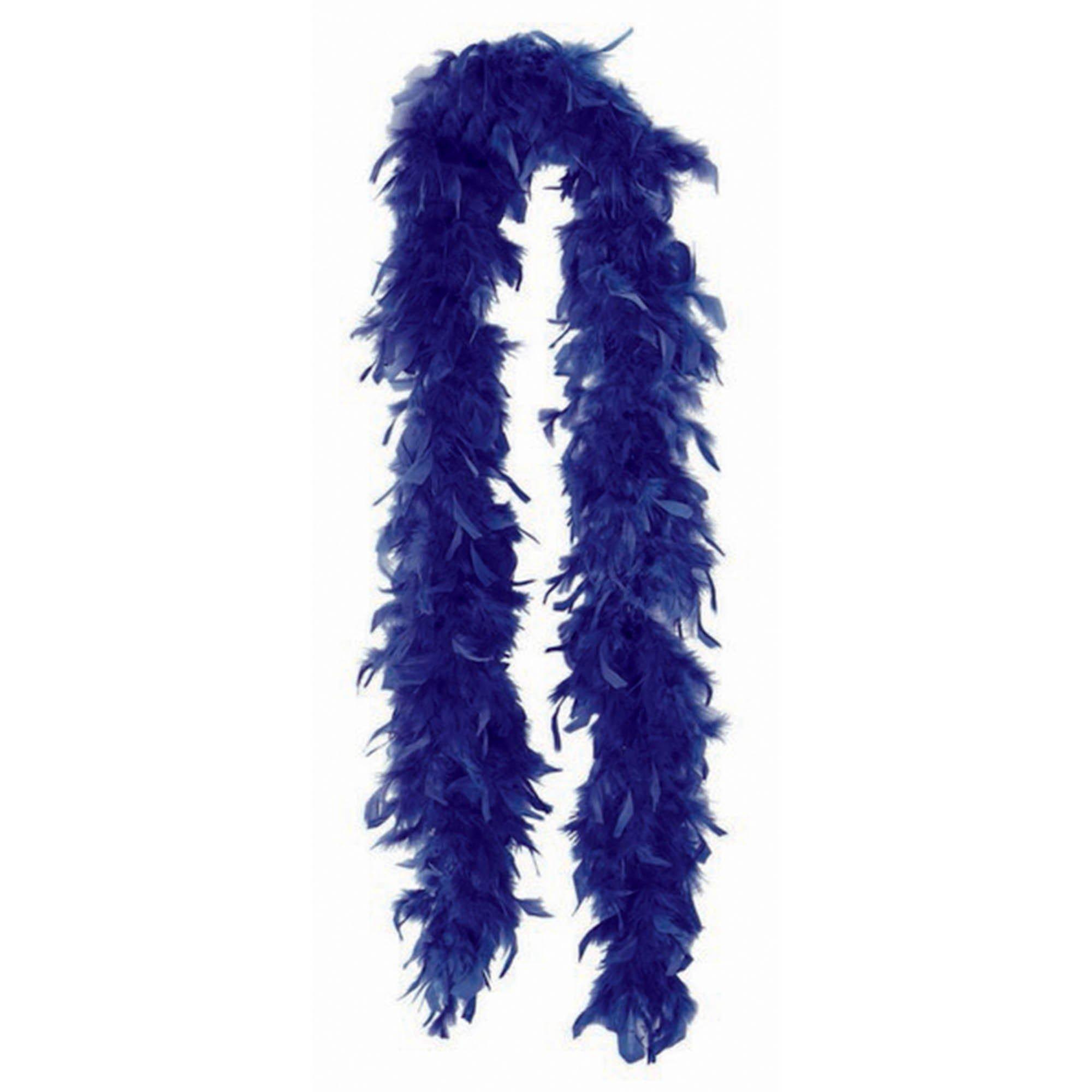 Feather Boa - Navy