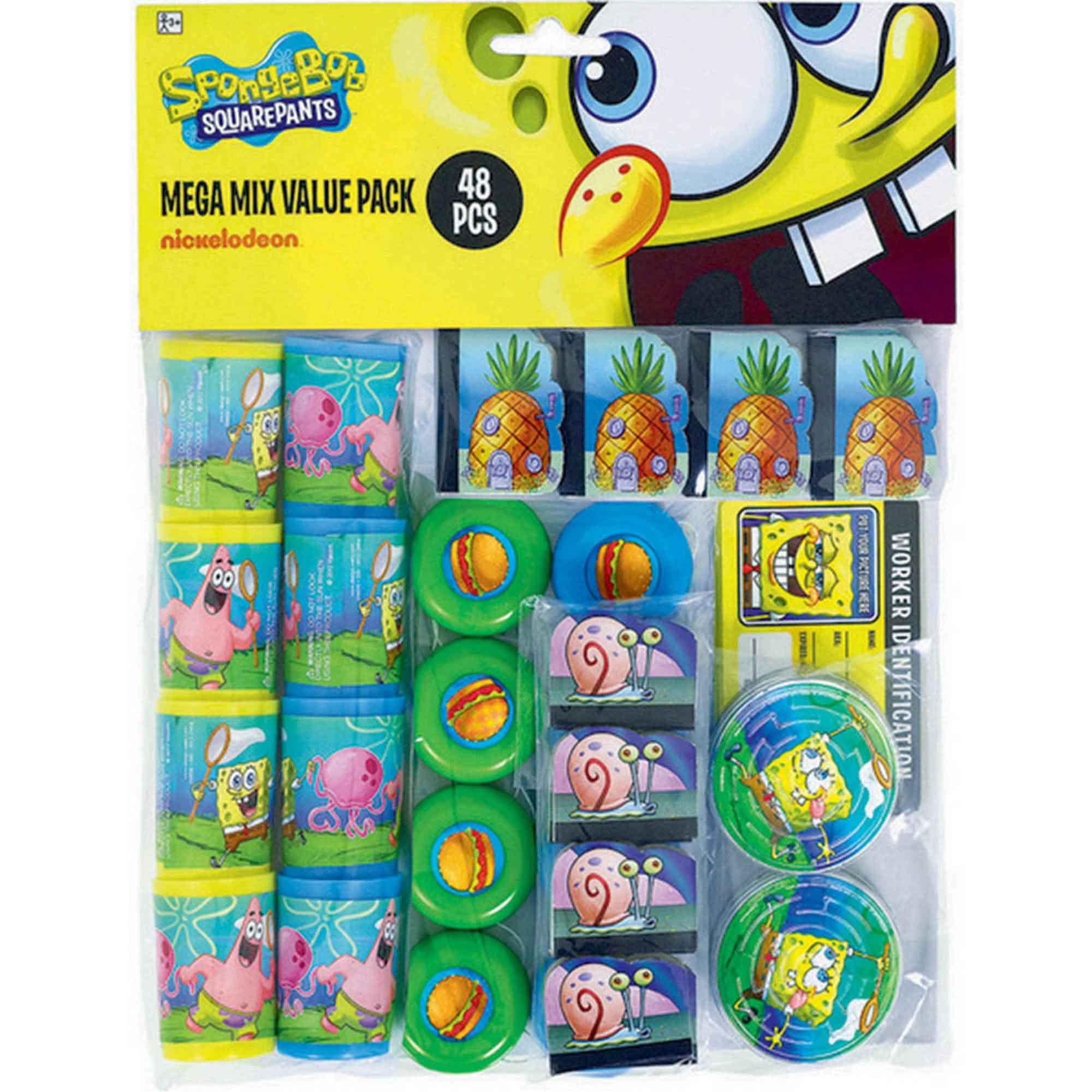 Spongebob Party Mega Mix Value Pack Favors
