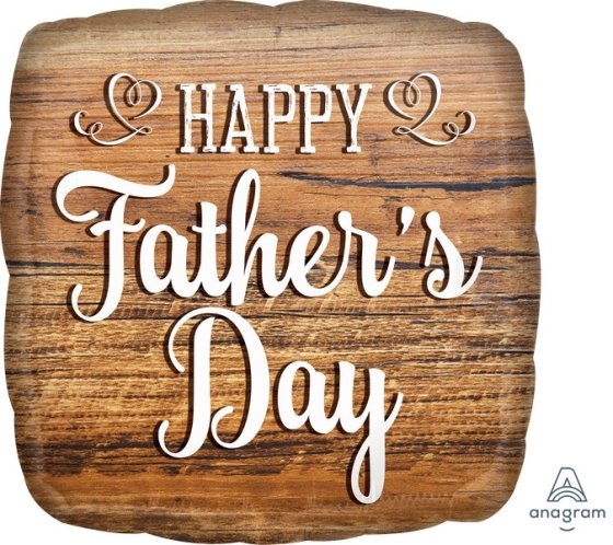 45cm Standard HX Happy Fathers Day Wood Sign S40