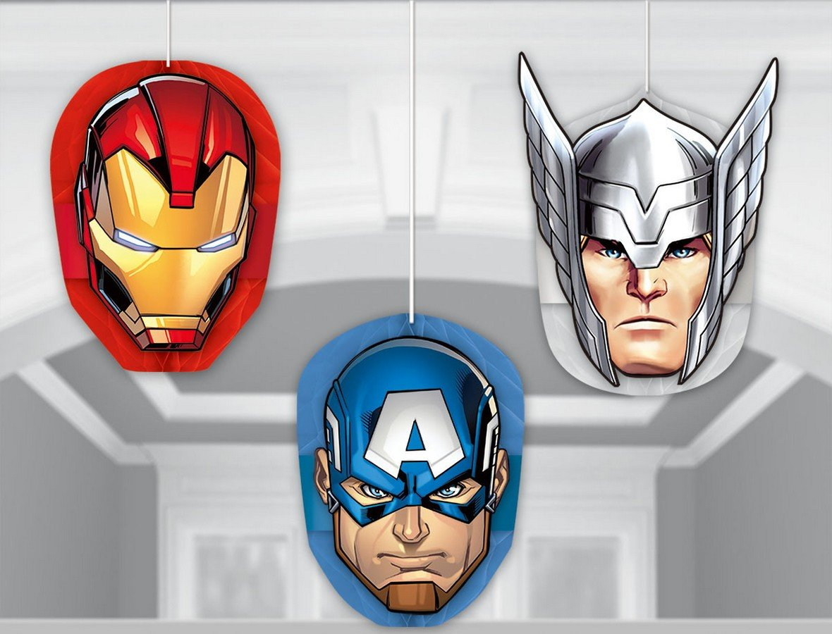 Avengers Epic Honeycomb Decorations - Tissue & Printed Paper