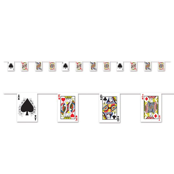 Pennant Banner Playing Card Suits