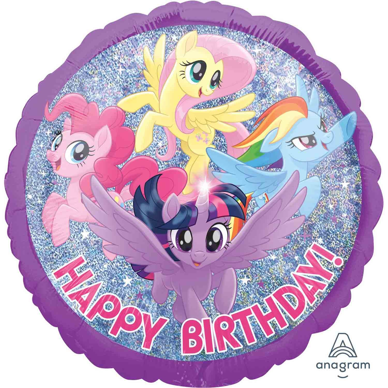 45cm Standard Holographic My Little Pony Friendship Adventures Happy Birthday S60