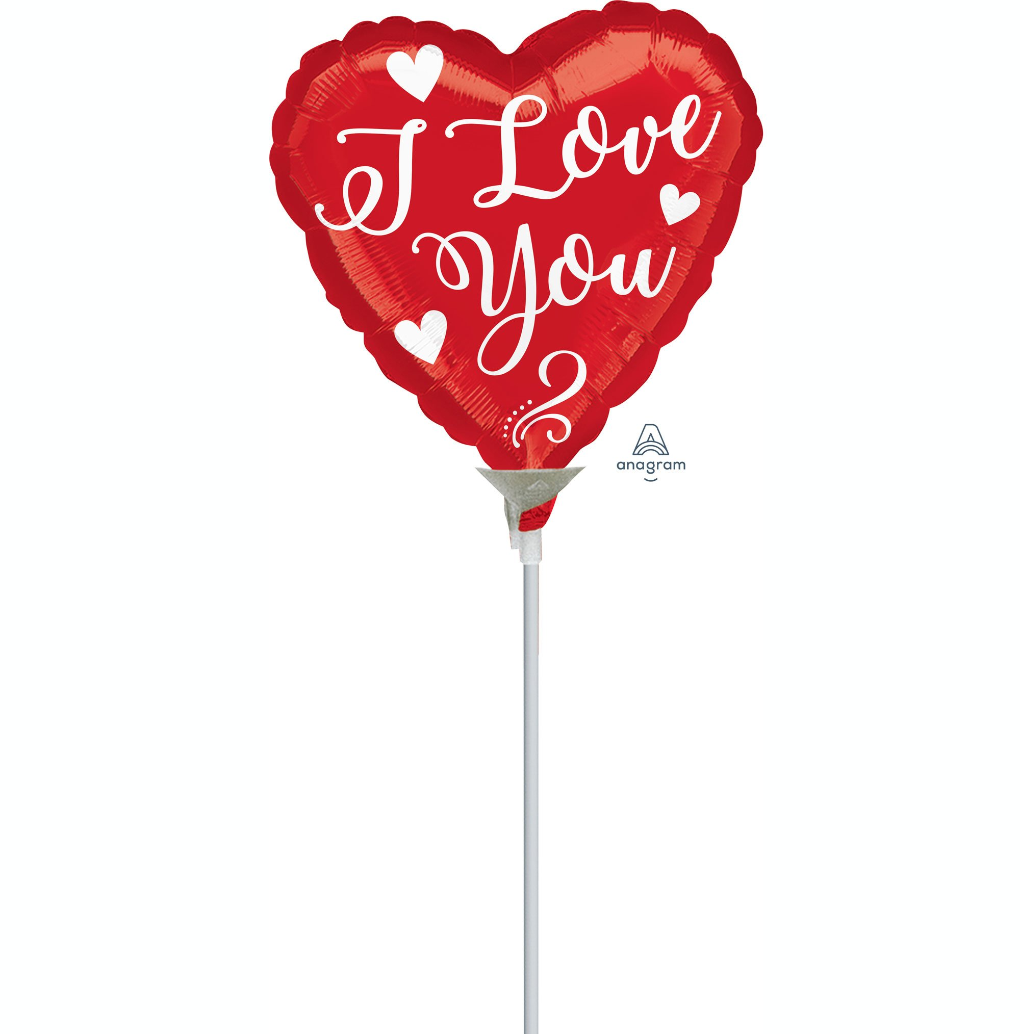 10cm I Love You White Script A10