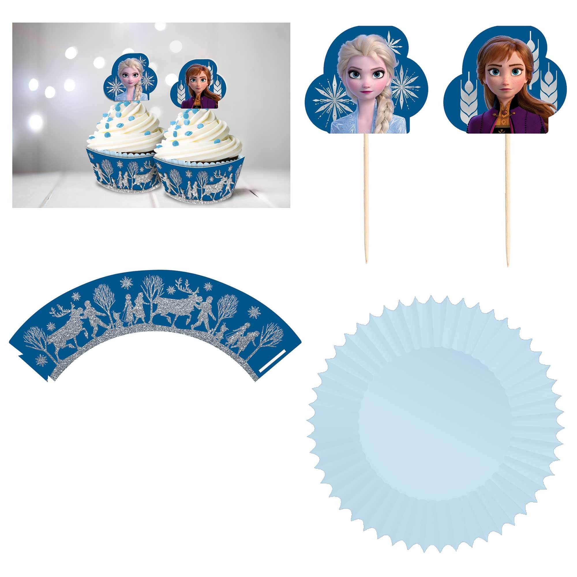 Frozen 2 Cupcake Kit Glittered