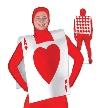 Heart Playing Card Suit Vest
