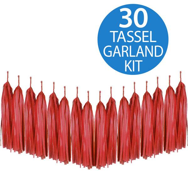Tassel Garland Tissue Paper Red