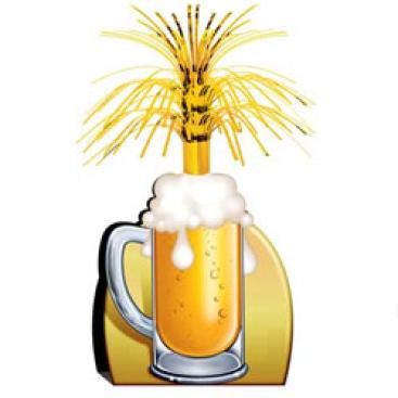 Beer Mug Cascade Centrepiece