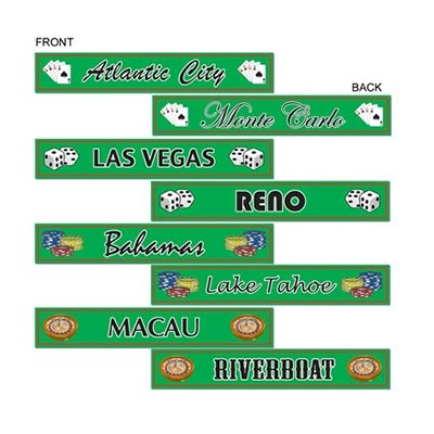 Casino Gambling Destination Street Signs Cutouts