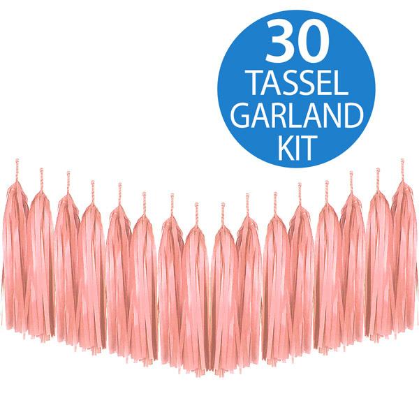 Tassel Garland Tissue Paper Peach