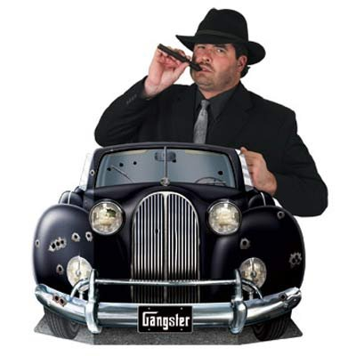 20's Gangster Car Photo Prop