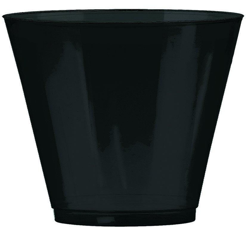 Big Party Pack 9oz/266ml Plastic Tumblers Jet Black
