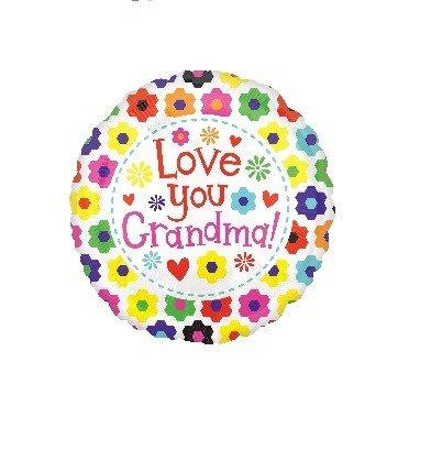 53cm XL Love You Grandma Flowers S70