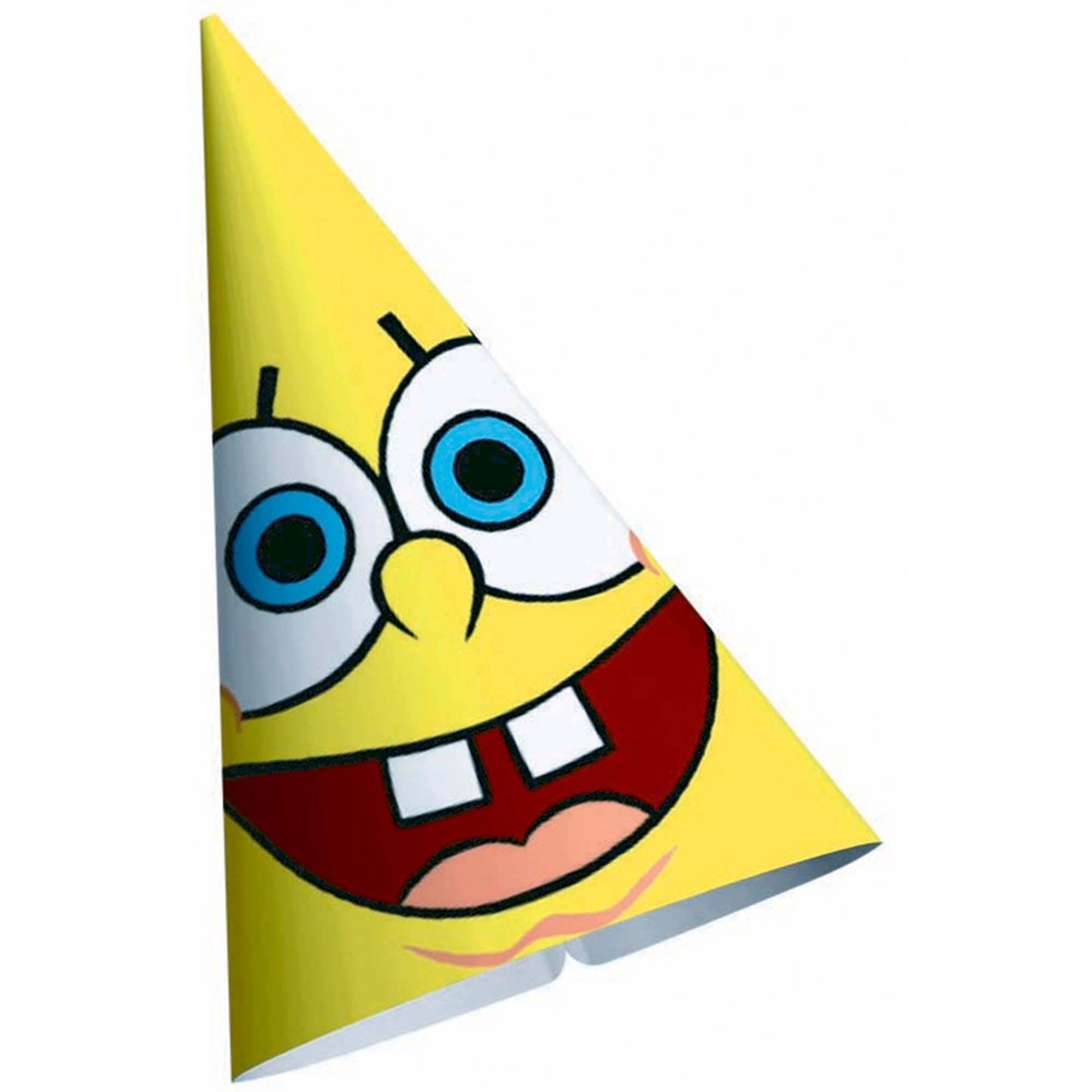 Spongebob Cone Hats - Paper