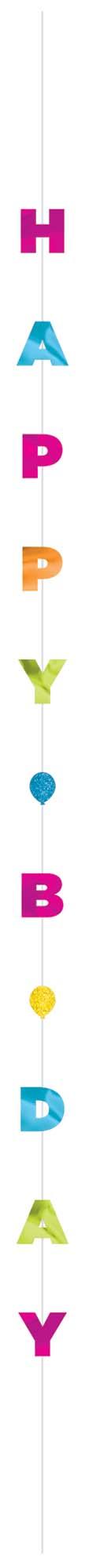 Balloon Fun Strings Happy Birthday Brights