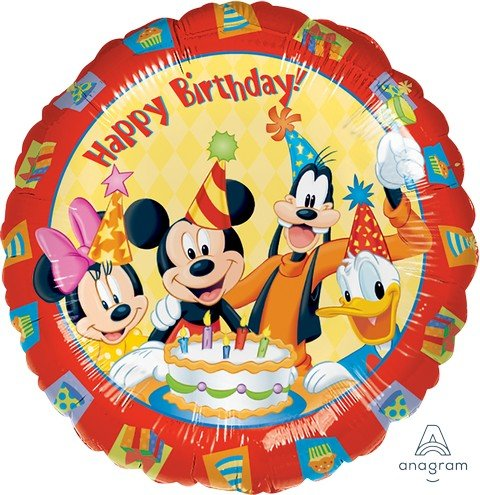 45cm Standard HX Mickey & Friends Happy Birthday S60