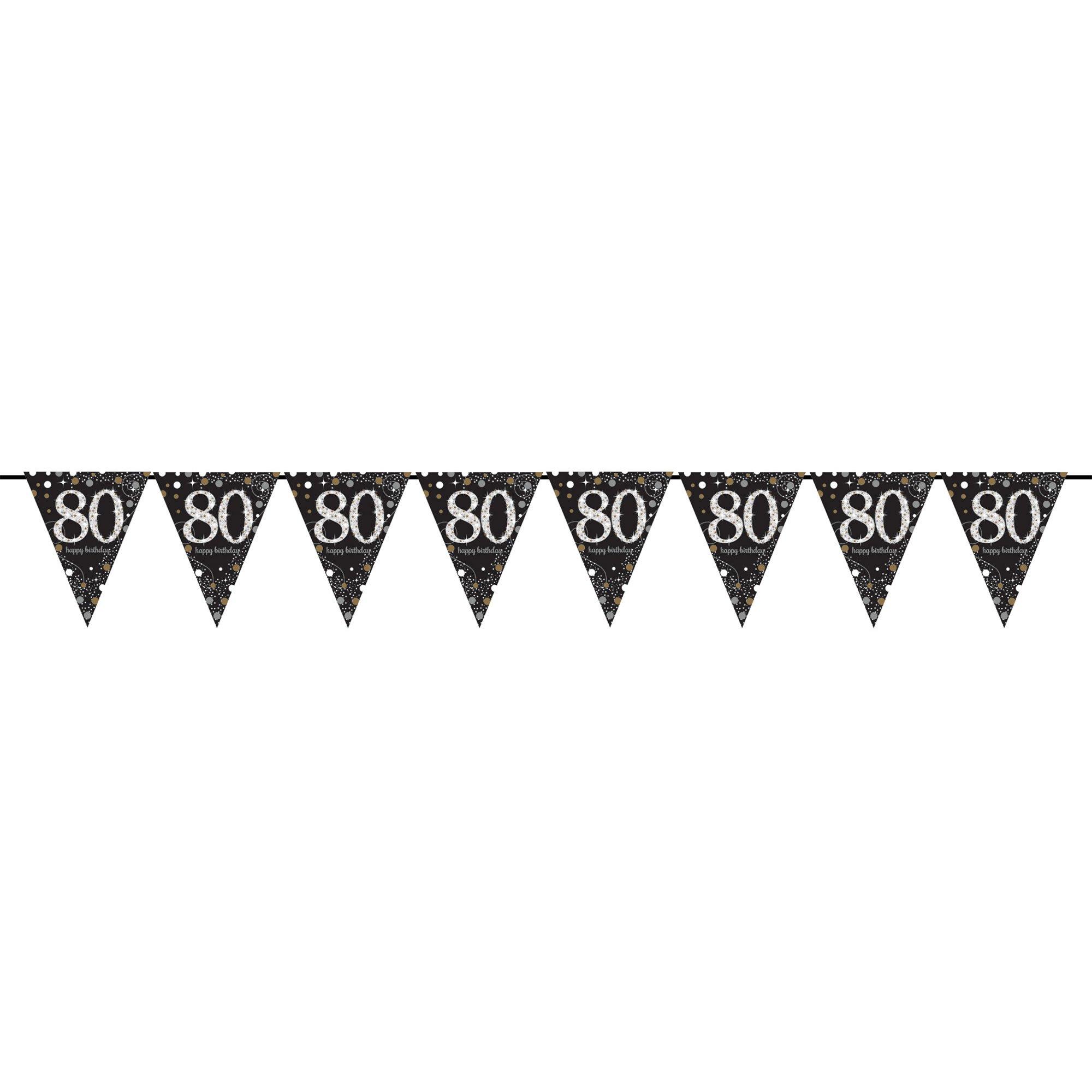 Sparkling Celebration 80 Prismatic Pennant Banner