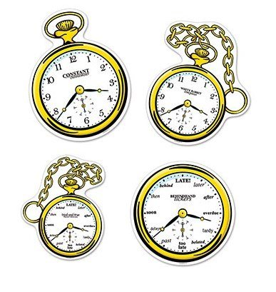 Tea Party Clocks Cutouts
