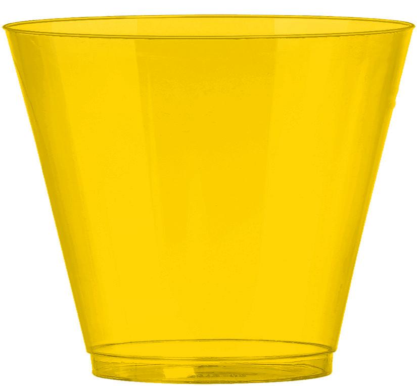 Big Party Pack 266ml Plastic Tumblers Yellow Sunshine