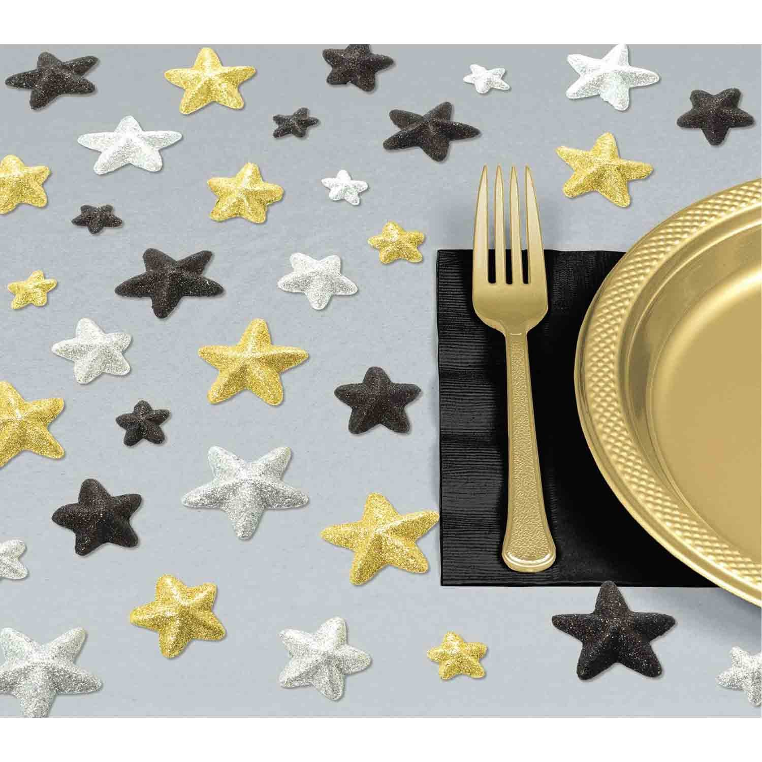 Glitz & Glam Table Star Scatters Glittered Foam Sprinkles