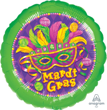 45cm Standard XL Mardi Gras Masquerade S40
