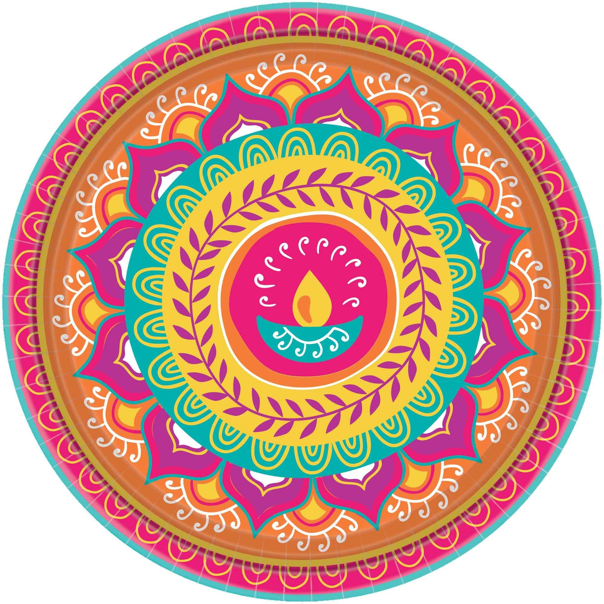 """Diwali 10.5"""" / 26cm Paper Plates"
