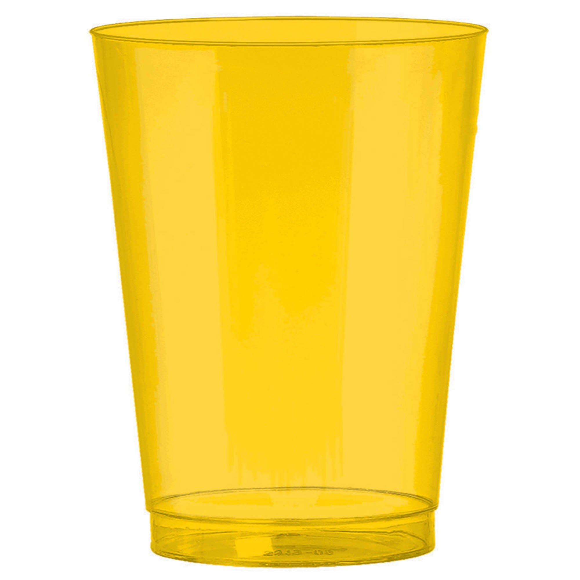 Big Party Pack 295ml Plastic Tumbler Yellow Sunshine