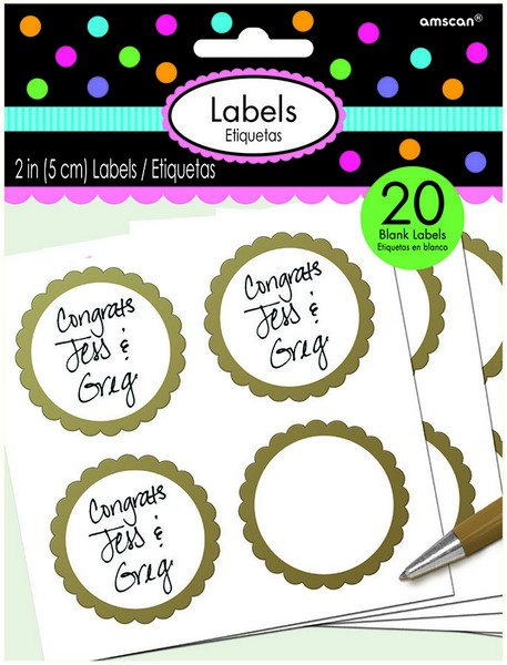 Labels Scalloped - Gold