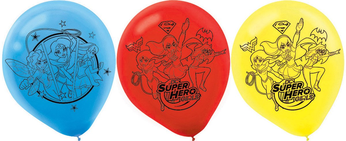 DC Superhero Girls 30cm Latex Balloons