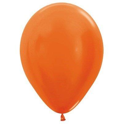 Sempertex 30cm Metallic Orange Latex Balloons 561, 100PK