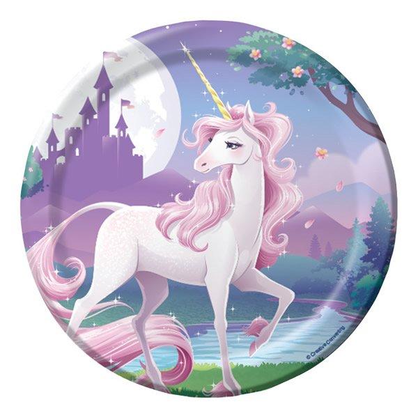 Unicorn Fantasy Lunch Plates Paper