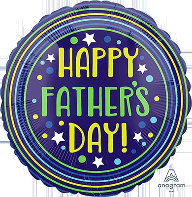 45cm Standard HX Happy Father's Day Circles & Stars S40