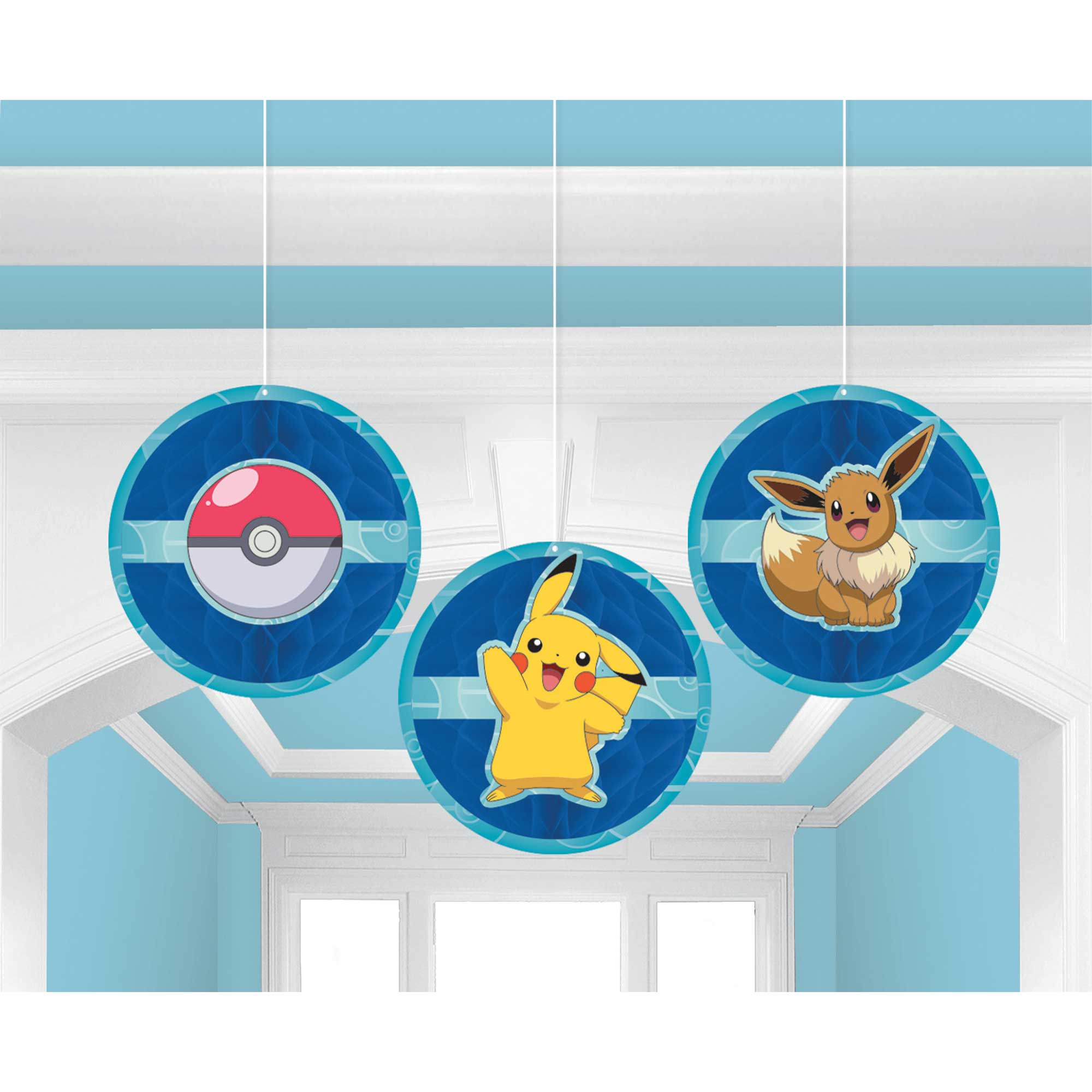 Pokemon Classic Honeycomb Decoration