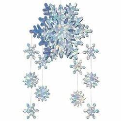 Hanging 3D Snowflake Mobile