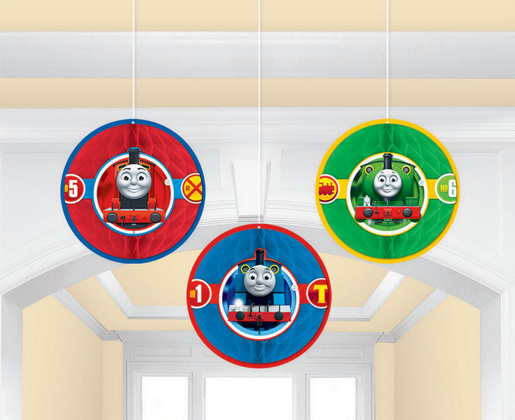Thomas All Aboard Honeycomb Decorations - Tissue & Printed Paper
