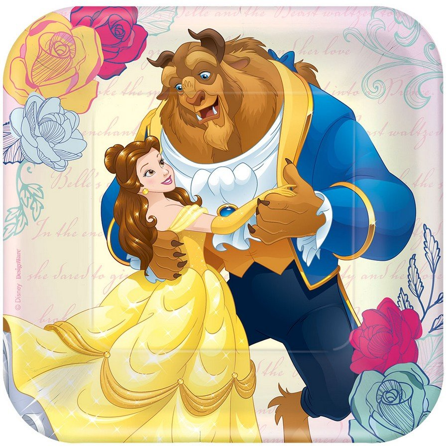 Beauty and the Beast 17cm Square Plate