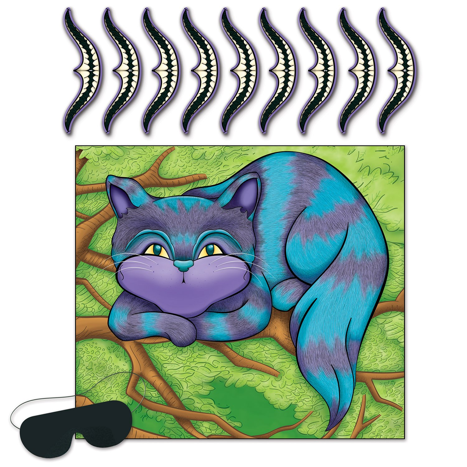Cheshire Cat Game Pin the Smile on the Cat