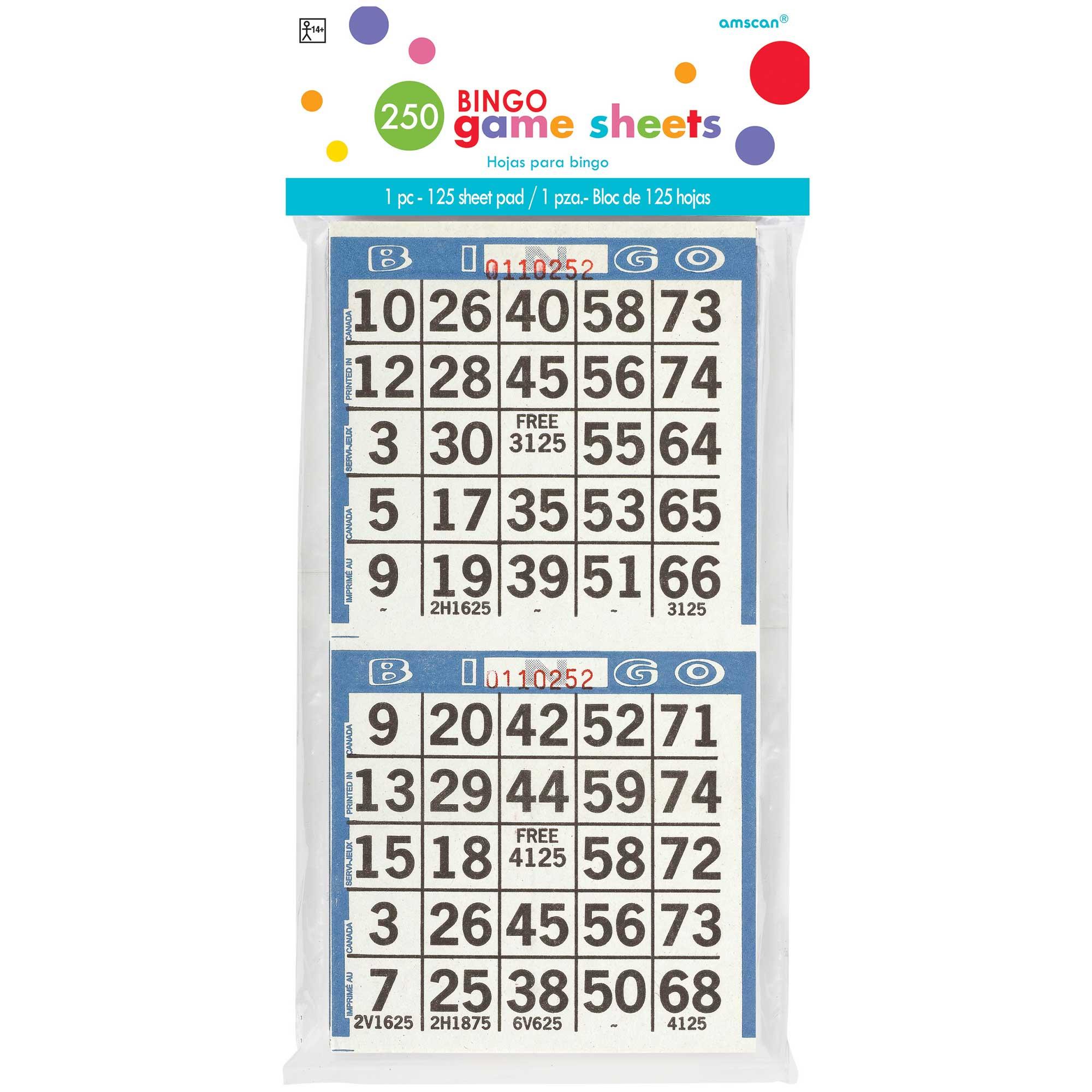 Bingo Game Sheets