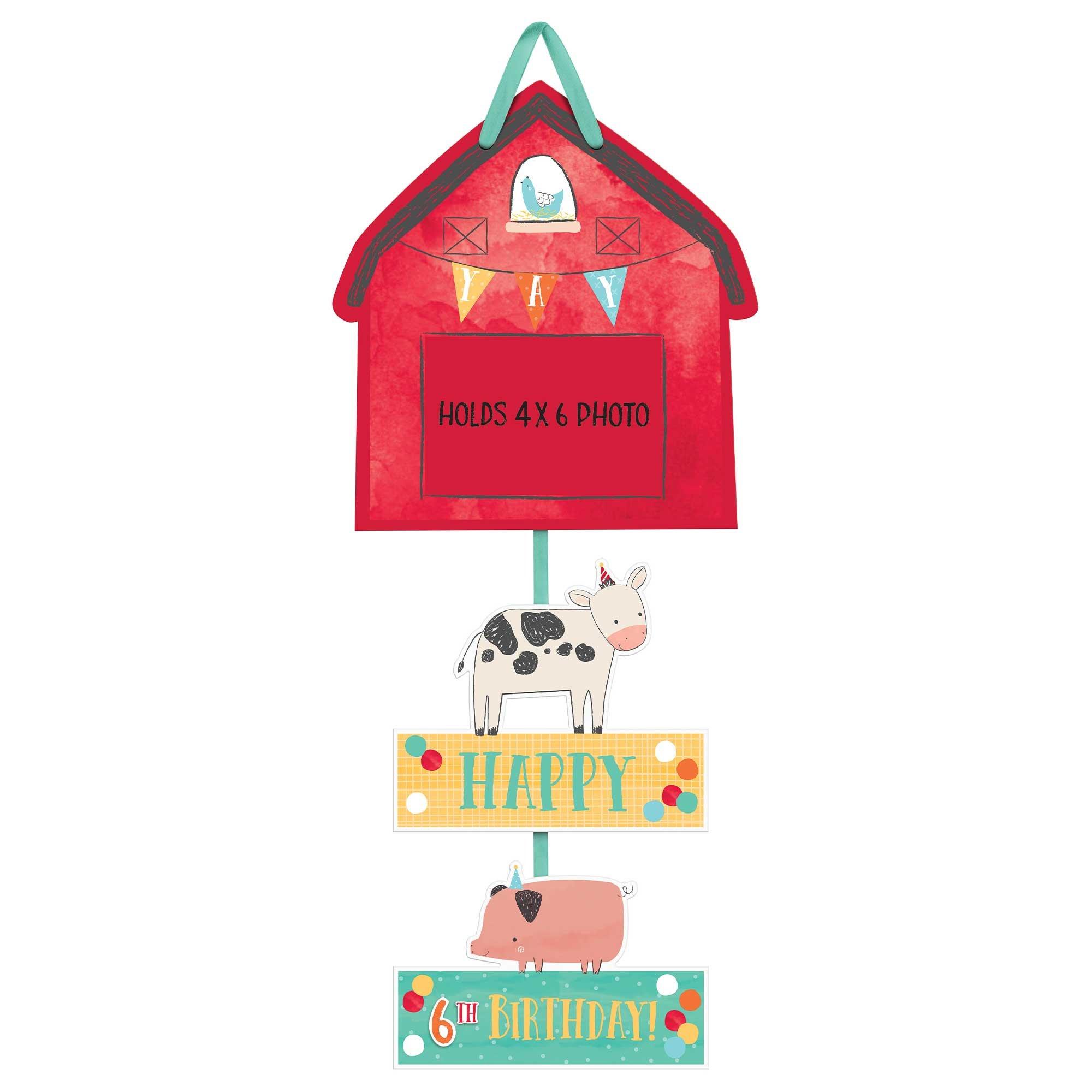 Barnyard Birthday Personalise It Photo Prop Sign