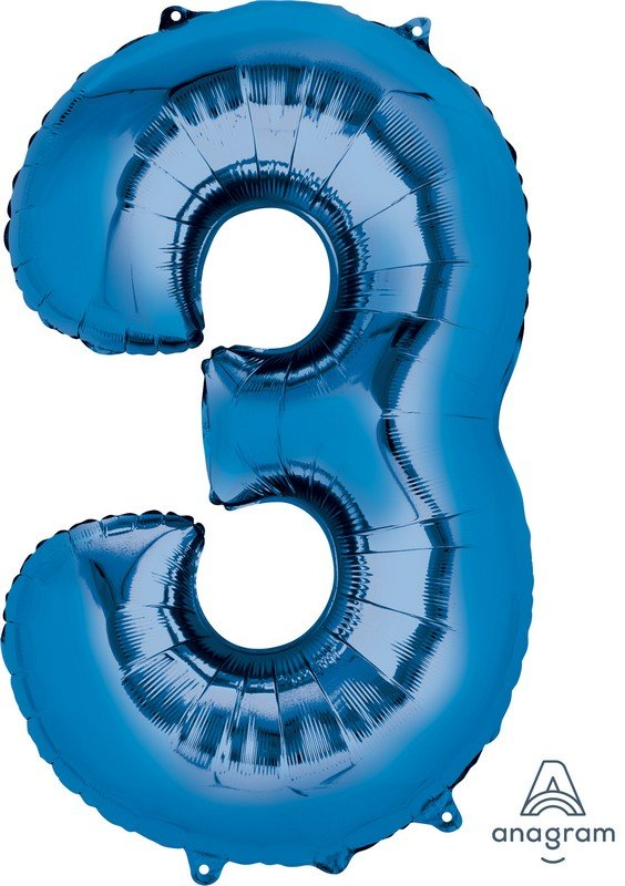 SuperShape Blue Number 3 P50