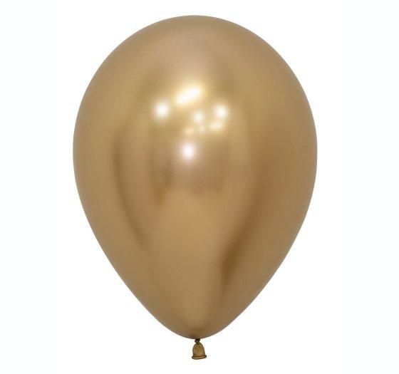 Sempertex 30cm Metallic Reflex Gold Latex Balloons 970, 50PK