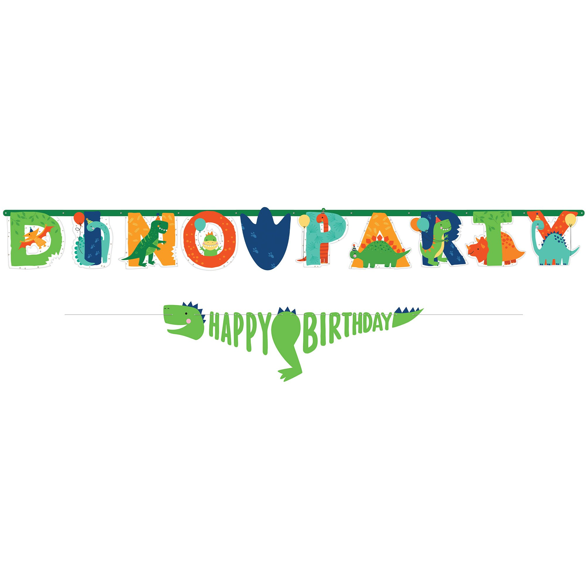 Dino-Mite Party Dinosaur Jumbo Birthday Banner Kit