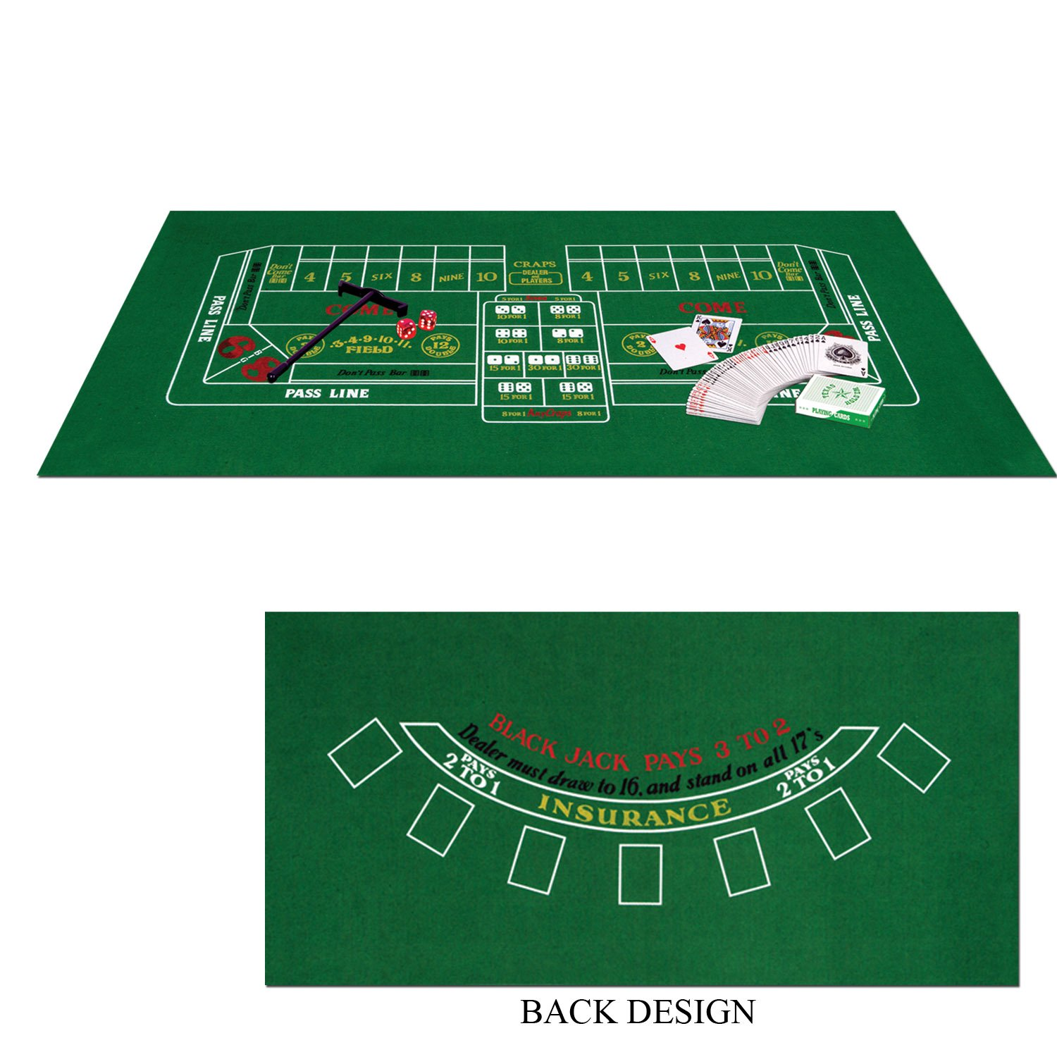 Casino Blackjack & Craps Game Set