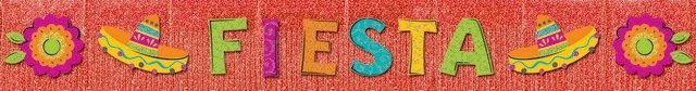 Fiesta Glitter Fringe Banner