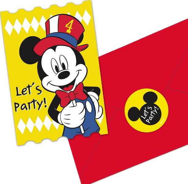 Disney Mickey Carnival Postcard Invitations